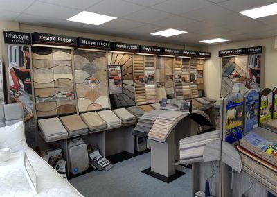 Merchandising display with carpets done by ADP