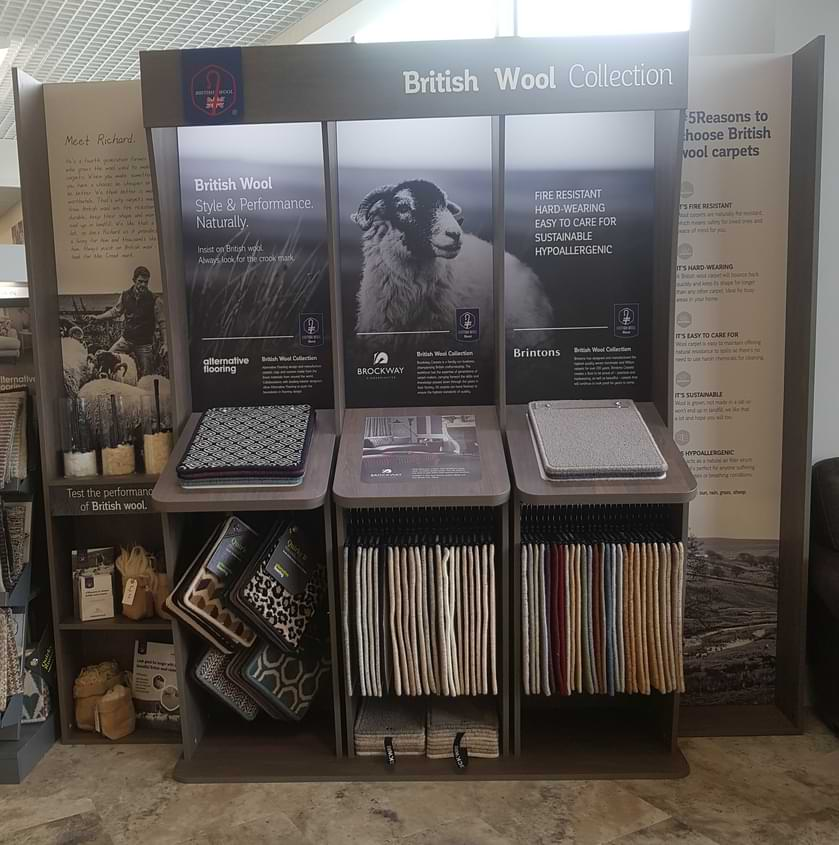 british wool display stands